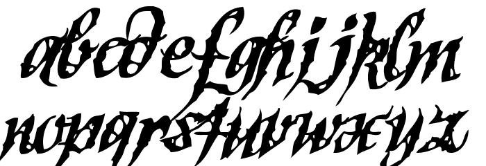 SinnerScript-Regular Schriftart Kleinbuchstaben
