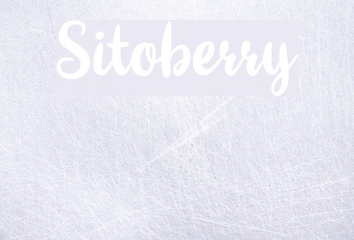 Sitoberry Шрифта examples