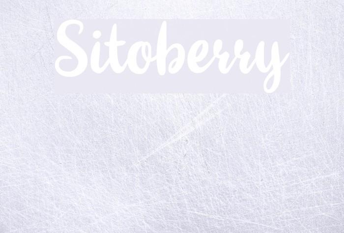 Sitoberry لخطوط تنزيل examples