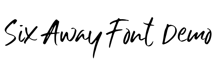 Six Away Font [Demo]  Free Fonts Download