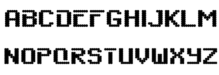 SixEightZeroNineChargen-Regular Font UPPERCASE
