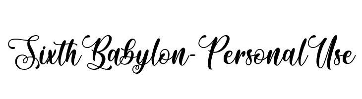 Sixth Babylon - Personal Use Font