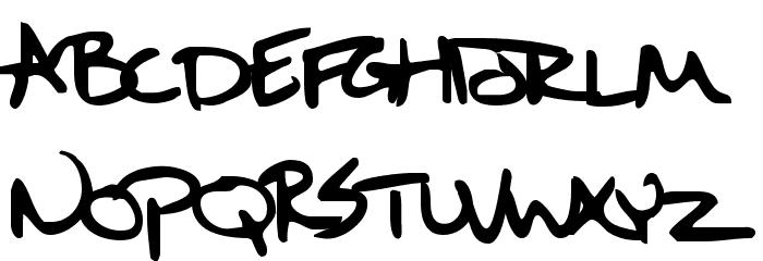 Sixth Kristen Squirt Font UPPERCASE