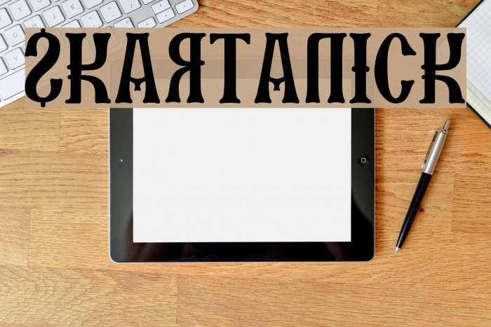 SKARTANICK Font examples