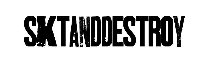 SKTANDDESTROY  Free Fonts Download