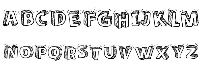 Sketch 3D Font Comments