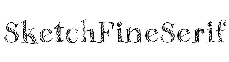Sketch Fine Serif Font - free fonts download
