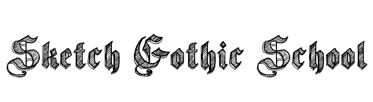 Sketch Gothic School  Free Fonts Download