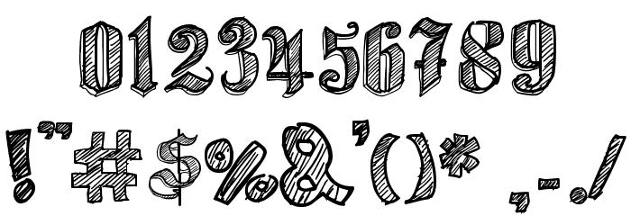Sketch Gothic School Шрифта ДРУГИЕ символов