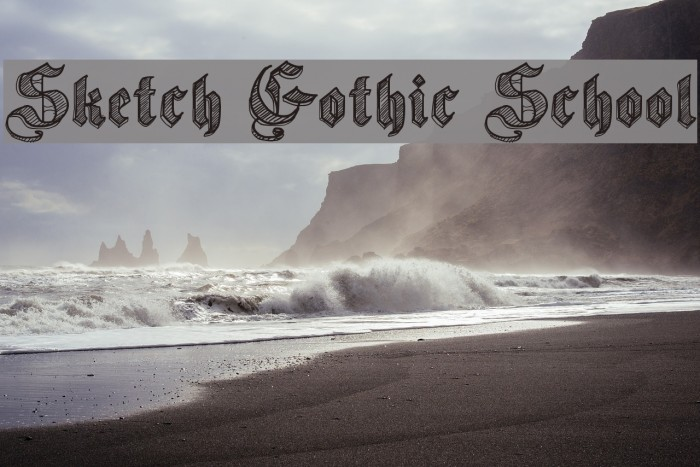 Sketch Gothic School Шрифта examples