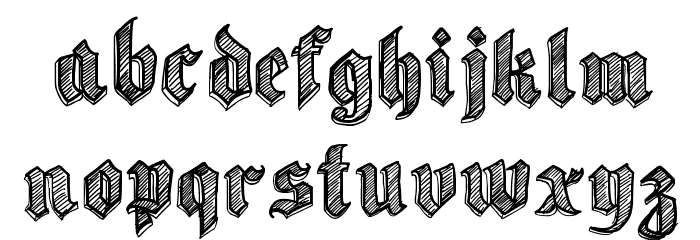 Sketch Gothic School Шрифта строчной