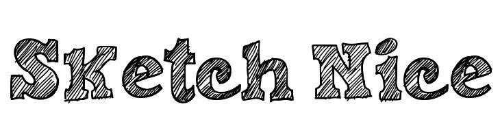 Sketch Nice  Скачать бесплатные шрифты