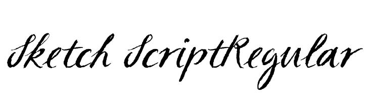 Sketch ScriptRegular  Fuentes Gratis Descargar