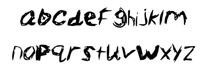 Sketch_Scoring_Font Schriftart Kleinbuchstaben