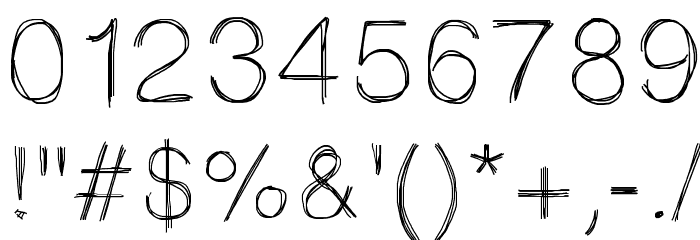 Sketchtica Font OTHER CHARS