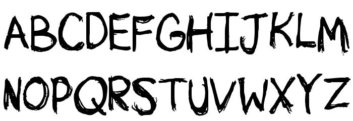 Sketchy لخطوط تنزيل الأحرف الكبيرة
