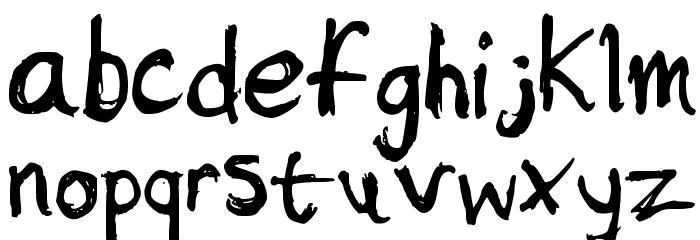 Sketchy Font LOWERCASE