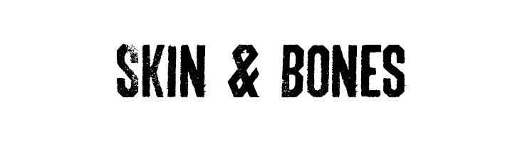 Skin & Bones  नि: शुल्क फ़ॉन्ट्स डाउनलोड