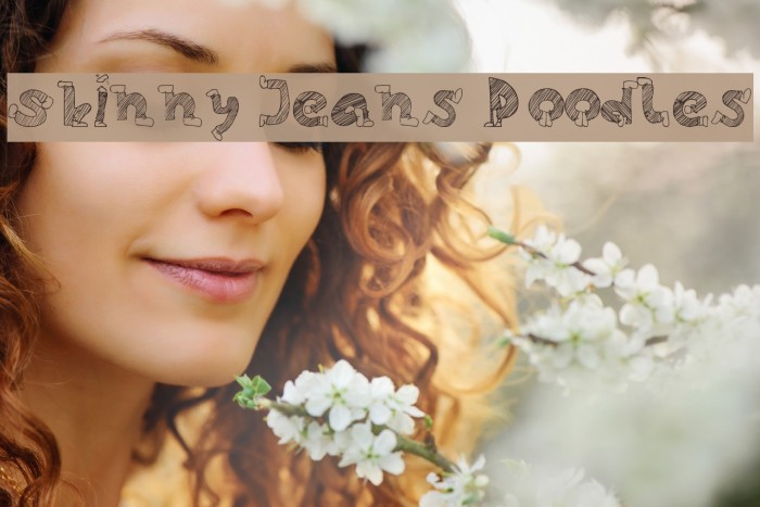 Skinny Jeans Doodles Font examples
