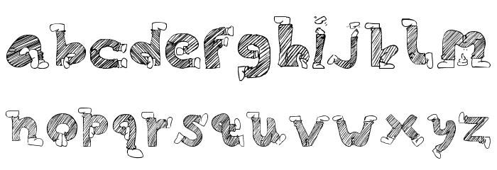 Skinny Jeans Doodles Font LOWERCASE