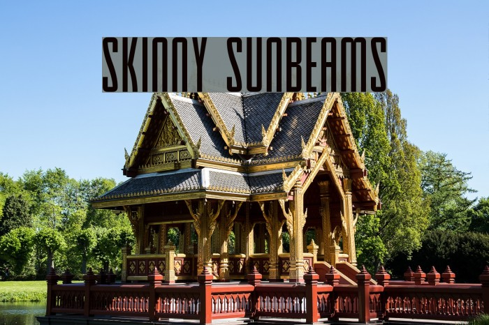 Skinny Sunbeams Font examples