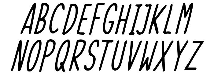 Skinny Things Italic Font LOWERCASE