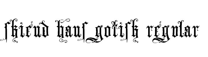 Skjend Hans Gotisk Regular  font caratteri gratis