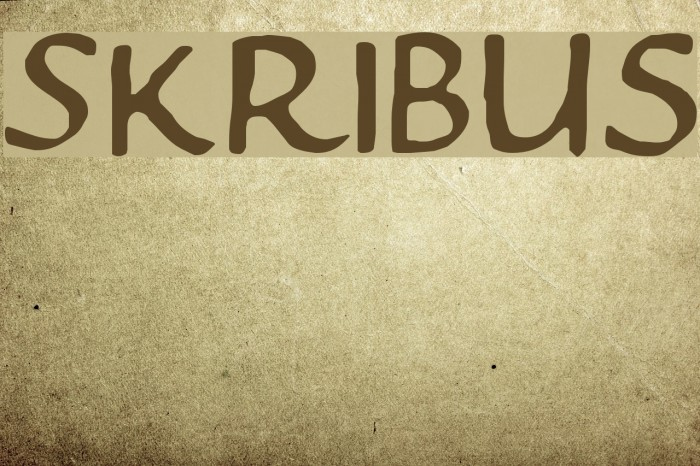 Skribus फ़ॉन्ट examples