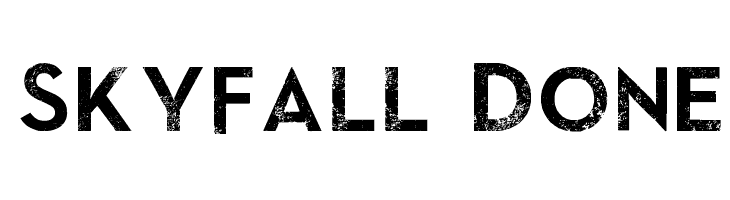 SkyFall Done  Free Fonts Download