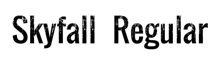 Skyfall Regular  baixar fontes gratis