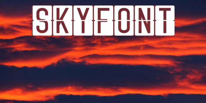 Skyfont Polices examples