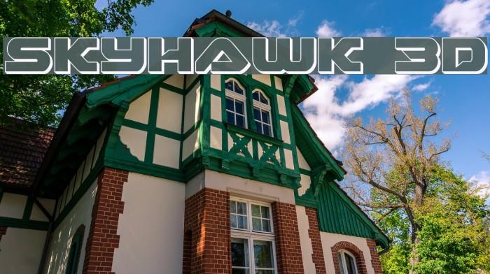 Skyhawk 3D Fonte examples