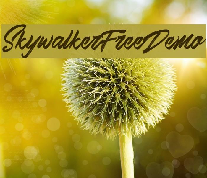 Skywalker Free Demo Font examples