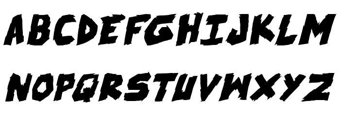 skrunch Bold Italic फ़ॉन्ट अपरकेस