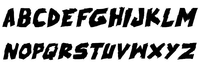 skrunch Bold Italic फ़ॉन्ट लोअरकेस