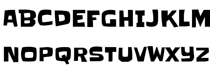 Slackey Font UPPERCASE