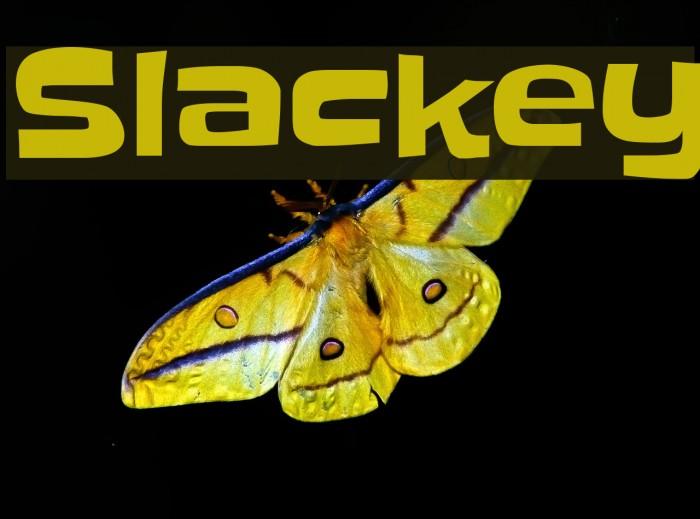 Slackey Font examples