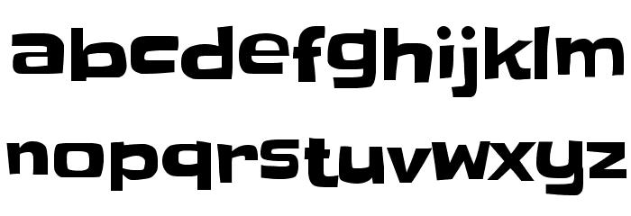 Slackey Font LOWERCASE