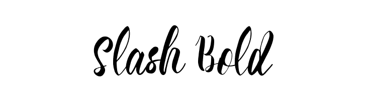 Slash Bold Font Comments - free fonts download