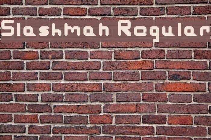 Slashman Regular Font examples