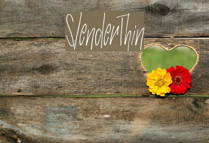 SlenderThin फ़ॉन्ट examples