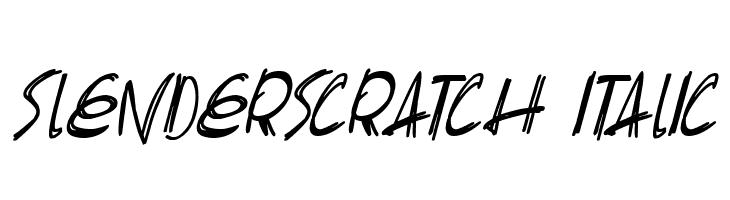 Slenderscratch Italic Fonte