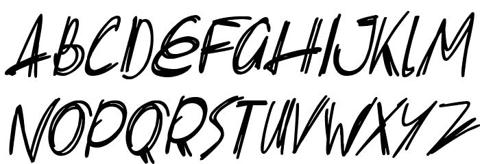 Slenderscratch Italic Fonte MINÚSCULAS