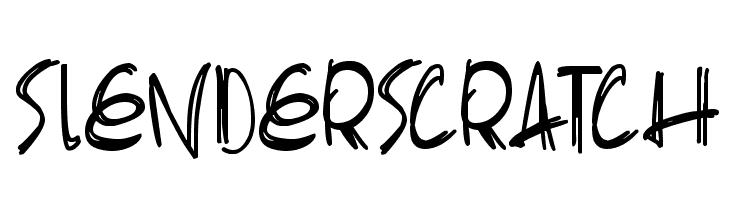 Slenderscratch 字体