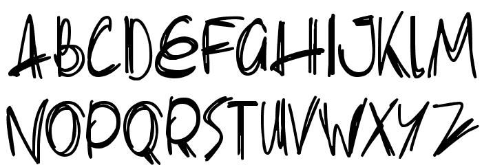 Slenderscratch 字体 大写