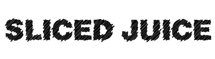 Sliced Juice  नि: शुल्क फ़ॉन्ट्स डाउनलोड