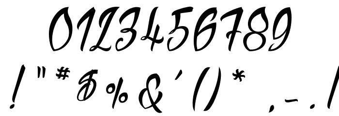 Sliced by Hand Schriftart Anderer Schreiben
