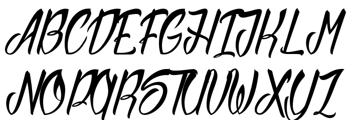 Sliced by Hand Schriftart Groß