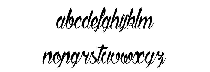 Sliced by Hand Schriftart Kleinbuchstaben
