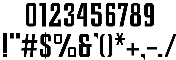 Slim Jim Шрифта ДРУГИЕ символов